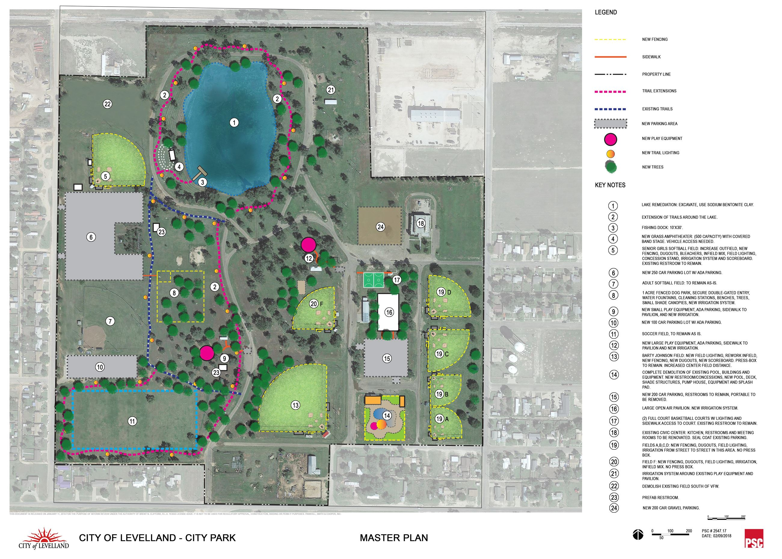2018.02.09 Levelland City Park Master Plan